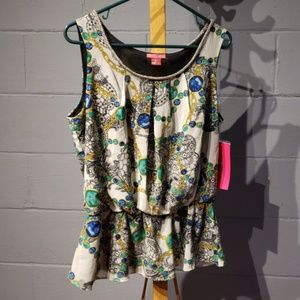 sunny leigh tank top blouse size large